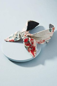 Anthropologie Floral Bow-Tied Headband WWRih