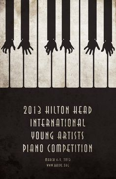 Hilton Head piano poster design by Mahmoud Alkhawaja