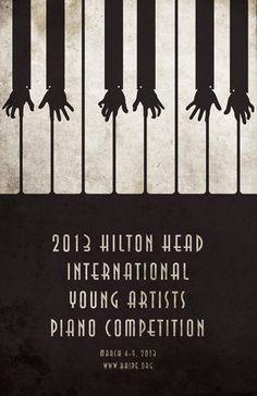 Hilton Head piano poster design by Mahmoud Alkhawaja