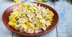 Recette de Salade délice de mangue, crevettes et avocat. Facile et rapide à réaliser, goûteuse et diététique. Ingrédients, préparation et recettes associées.