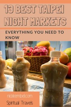 Read on for a comprehensive guide to the best night markets in Taipei, Taiwan. Taipei night markets are one of the top reasons to visit Taiwan, and the best place the country to sample a variety of Taiwanese foods. Travel Advice, Travel Tips, Travel Destinations, Travel Ideas, Budget Travel, Travel Articles, Travel Stuff, Travel Goals, Taiwan Travel