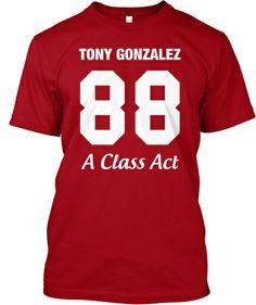 half off cd6ea e1247 Tony Gonzalez Limited Edition T-Shirt   Teespring Kansas City Chiefs,  Falcons, Nfl