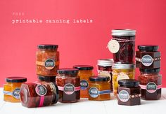 Printable Canning Labels and recipes!