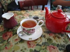 First of all, you get a pot of tea. They have quite a few varieties to choose from. I selected the Tea & Sympathy Rosie Lee, a cross between Earl Grey and English Breakfast with a floral touch. I thought it was excellent, a great accompaniment to my tiers of British decadent.