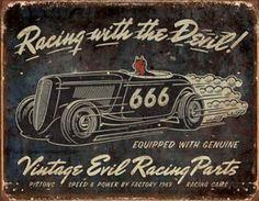 Racing with the Devil Placa de lata