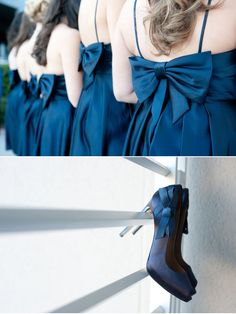 by Donna Von Bruening Photographers (via style me pretty) loving the bows