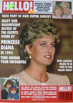 December 04, 1993 edition Hello magazine. Front cover photo - Princess Diana.