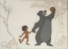 Mogley & Baloo from Disney's jungle Book Cel