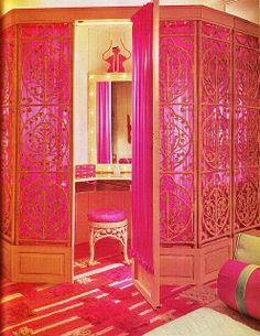 <3 Bright Pink 70s Dressing Room, Practical  | Pink Stuff I Love