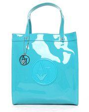 Armani Jeans - Eco Patent Tote w/ Logo Medallion
