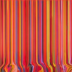 Davenport, Ian - Puddle Painting: Orange - Young British Artists (YBA) - Abstract - Acrylic