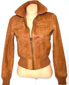 51c60ed0edb KOŽENÁ dámská hnědá bunda na zip NEW - obrázek číslo 2