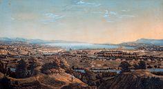 Panorama di Ginevra, primi dell'Ottocento