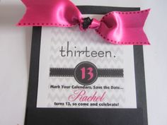 13th Birthday Invitation Girls Birthday by fancyshmancynotes
