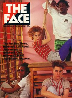 Fun Boy Three on the cover of The Face in 1982 (that's Siobhan Fahey from Bananarama sharing the cover). Vocalist Terry Hall is bottom right. Gorillaz, Coventry, Shakespears Sister, Fun Boy Three, Terry Hall, The Face Magazine, Cool Face, Face Fun, Musica Pop