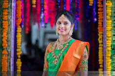 The Super Extravagant Telugu Wedding Replete With Glitz & Glamour South Indian Weddings, South Indian Bride, Indian Bridal, Telugu Wedding, Indian Wedding Hairstyles, Indian Wedding Planning, Wedding Story, Before Us, Wedding Moments