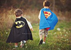 .superhero brothers. by polkadotandplaid, via Flickr