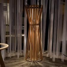 Decorating Ideas Fancy Decorative Lamp Furniture For Living Room Decoration Using Hourglass Bamboo Sticks Floor Lamps