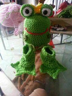 My frog prince set crochet baby set