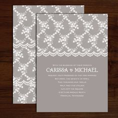 Wedding #Invitations | Vintage lace design perfect for a romantic, outdoor wedding. Available in our Boutique!