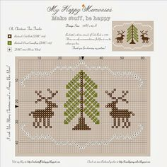 My Happy Memories: Free Patterns Cross stitch baby! Cross Stitch Christmas Ornaments, Xmas Cross Stitch, Cross Stitch Needles, Cross Stitch Baby, Cross Stitch Animals, Christmas Cross, Cross Stitching, Cross Stitch Embroidery, Christmas Tree