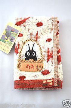 Kiki's Delivery Service JiJi Hand Towel 33 x 37.5cm Studio Ghibli From Japan
