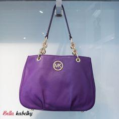 Michael Kors kabelka - Fulton LG EW chain tote, violet