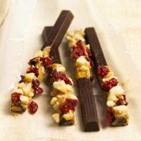 Fruit and Nut Chocolate Sticks