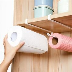 Practical Kitchen Toilet Paper Towel Rack Paper Towel Roll Holder Cabinet Hanging Shelf Organizer – Top Of The World