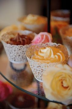 #cupcake - love the lace liner