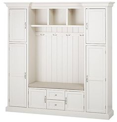 """Royce All in one Mudroom, 81""""Hx79""""Wx17""""D, POLAR WHITE"""