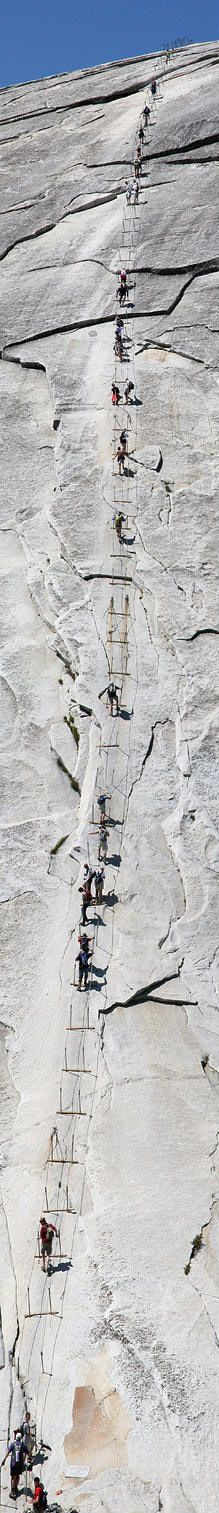 Yosemite cable hike....☼☽ // pinterest @tiffanymeagle & instagram @tiffany.eagle //☽ ☼