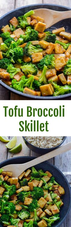 Tofu Broccoli Skillet Ready in only 15 minutes, so delicious!