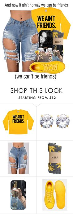 """""""Can't be Friends x Trey Songz"""" by juicyums ❤ liked on Polyvore featuring HUF and adidas"""