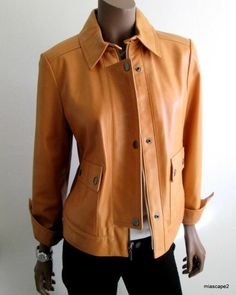 NWT Co ELLEN TRACY Leather Jacket BUTTER SOFT Lined BRAND NEW $798 Coat PM 8 10