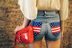 4th of July shorts tutorial
