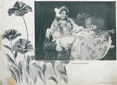 Артистка г-жа Миткевичъ. «Альбом русских красавиц» – издание для любителей женской красоты (1904 год).
