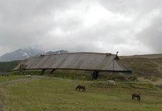 """Reconstructed long house in the Viking museum in Borg, Vestvågøy/Lofoten, Norway"""