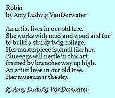 The Poem Farm: Building Nests, Making Metaphors - from The Poem Farm, Amy Ludwig VanDerwater's ad-free, searchable blog full of hundreds of poems, poem mini lessons, and poetry ideas for home and classroom - www.poemfarm.amylv.com