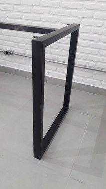 Metal Furniture, Furniture Design, Mesa Metal, Study Corner, Steel Table Legs, Wood Art, New Homes, Layout, House Design