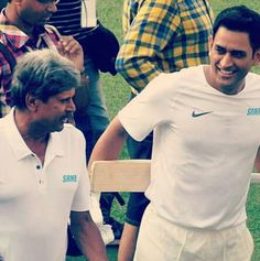 Kapil Dev and MS Dhoni in a single frame #Cricket - http://ift.tt/1ZZ3e4d