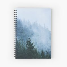 """""""Forest Mist"""" Spiral Notebook by ind3finite 