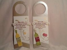 Wine tag using Papertrey Ink PTI Uncorked steam and die, Stampin Up Everything Eleanor stamp.
