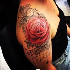tattoos rose and lace - Google Search                              …