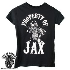 Official Sons of Anarchy Property of Jax Ladies Tee Shirt