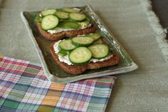 Avocado, cucumber, and ricotta toast from Your 6-Week Guide to LiveBest www.Livebest.info