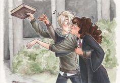 Harry Potter - Draco Malfoy x Hermione Granger - Dramione Harry Potter Anime, Harry Potter Fan Art, Memes Do Harry Potter, Fans D'harry Potter, Harry Potter Ships, Harry Potter Universal, Harry Potter Fandom, Harry Potter World, Draco Malfoy