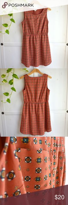 e8afa6f122a Adobe Tile Sleevess Casual Dress Olive   Oak This earthy adobe-hued casual  strapless frock