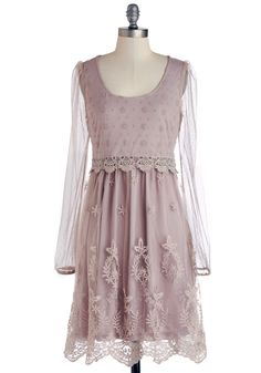 Rose Tea Time Dress. Zip into the ladylike allure of this dusty-pink dress, and add luxury to your afternoon. #pink #modcloth