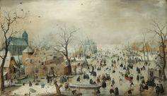 Hendrick Avercamp, 'Winter Landscape with Ice Skaters,' c. 1608, Rijksmuseum